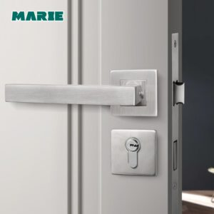 New stainless steel 304 lever door handle,interior door lever handles,square tube entry lever handle