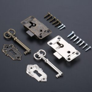 Antique Iron Door Lock Drawer Cabinet Jewelry Archaize Schloss Wardrobe Cupboard Door Lock+Key Locksmith Tool Set Locks with Key