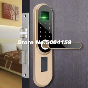 Handle Lock Electronic Locks Smart Cylinder Door Lockset Entrance Door Intelligent Lock Fingerprint Password Keyed Smart Locks
