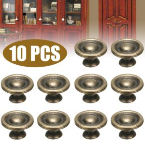 10pcs Antique Brass Knobs Handles Kitchen Bedroom Doors Cabinet Drawers Cabinet Knobs Furniture Hardware Tools