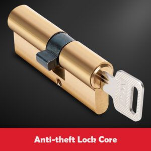 Pure Copper Anti - Theft Door Lock Core 65 70 80 90 115mm Brass Cylinder With AB Key Anti-Theft Lock