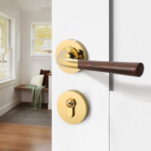 Black Interior Door Lock Door Handle for Bedroom Door Hardware Handles for Interior Door Chrome Gold Bathroom Lock