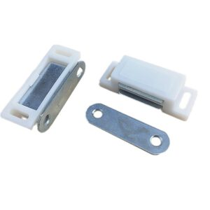 Cupboard Cabinet Etc Furniture Door Latch/Catch Closures Highly Magnet Catch with Metal Plate and Free Screws Plastic New