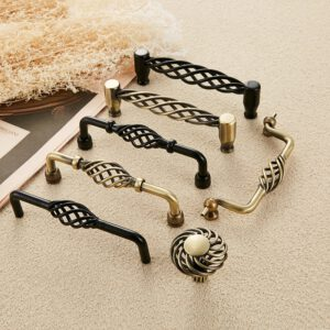 Multi style Vintage Antique Bronze Cabinet Handles Hollow Out Birdcage Handles Drawer Knobs Wardrobe Door Pulls Furniture Handle