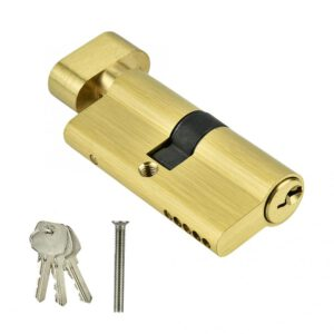 Door Cylinder Biased Lock 65mm Security Copper Single Open Lock Cylinder Bedroom Brass Door Lock Cylinder with Keys
