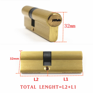 Door Cylinder Biased Lock 65 70 80 90 115mm Cylinder AB Key Anti-Theft Entrance Brass Door Lock Lengthened Core Extended Keys