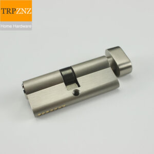 Copper/brass door lock cylinder, for indoor,bedroom, Stainless steel color, 70x29mm,with3 keys,handle lock accessories