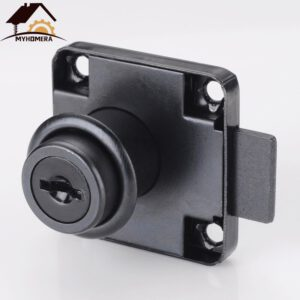 Myhomera Drawer Locks with 2 Keys Cabinet Lock Rolled Steel Mailbox Office Desk Letter Box Furniture Hardware Cam Locks DIY