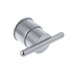 1pcs Electroplated Plastic Single Hole Shower Door Knob Handle For Interior Furniture Shower Cabin
