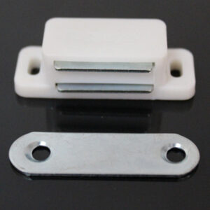 4pcs Plastic Magnetic Cupboard Catch Cabinet Door Stopper Self-Aligning Cabinet Kitchen Door Cupboard Magnet