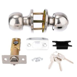 Stainless Steel Round Door Knob Set Ball Door Knob Handle for Bedroom Bathroom Handle Lock With Key Hardware Door Knobs
