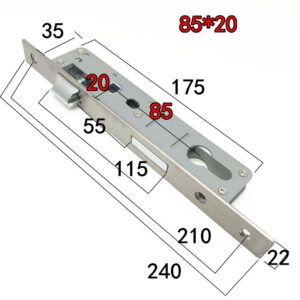 Door Lock Stainless Steel Hardware Accessories Lock Body 8520/25/30/35 Balcony Lock Body Lockcase Fittings