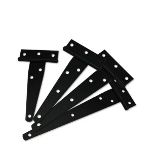 Iron Tee Hinge Black T hinges Cabinet Hinge Garden Shed 4-8inch Wooden Door Gate for Light Gates Doors Furniture Hardware