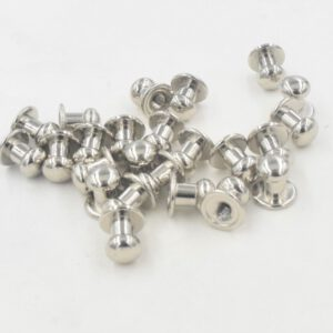 10Pcs/Set Solid Rivet Round Head Button Belt Screw Chicago Screw Button Studs Leather Craft Tool Accessories