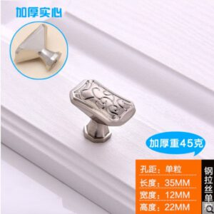22mm high 35mm long 12mm wide brushed metal handle ball with 2.2cm screws furniture door drawer pull knob concise