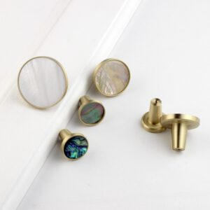 Round Resin Decorative Kitchen Cabinet Knobs Cupboards Door Knobs Drawer Pull Handle Multicolor-1Pack