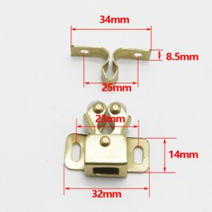 1PCS Door Stop Closer Stoppers Damper Buffer Magnet Cabinet Catches With Screws For Wardrobe Hardware Furniture Fittings