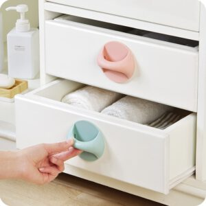 Self-Stick Cabinet Drawer Handle Helper Auxiliary Kitchen Cabinet Door Window Handle Sticker Convenient Opening Stick-on Handles