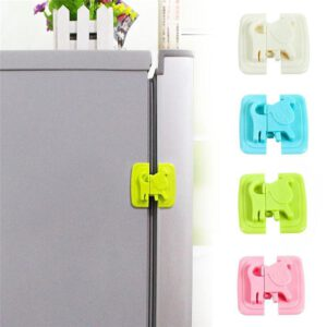 Home Refrigerator Freezer Door Lock Baby Care Locks Cartoon Shape Cupboard Door Lock Drawer Cabinet Safety Lock