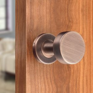 Door Handles for Interior Doors without Lock Tube Shape Brushed Copper and Chrome Color Options Stainless Steel Knob