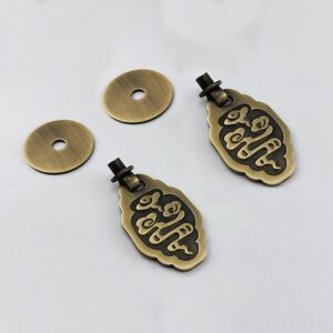 Tiazza Chinese Style Vintage Furniture Drawer Windows Thickened Brass Pulls Handle Jewelry Box Wardrobe Door Small Handle